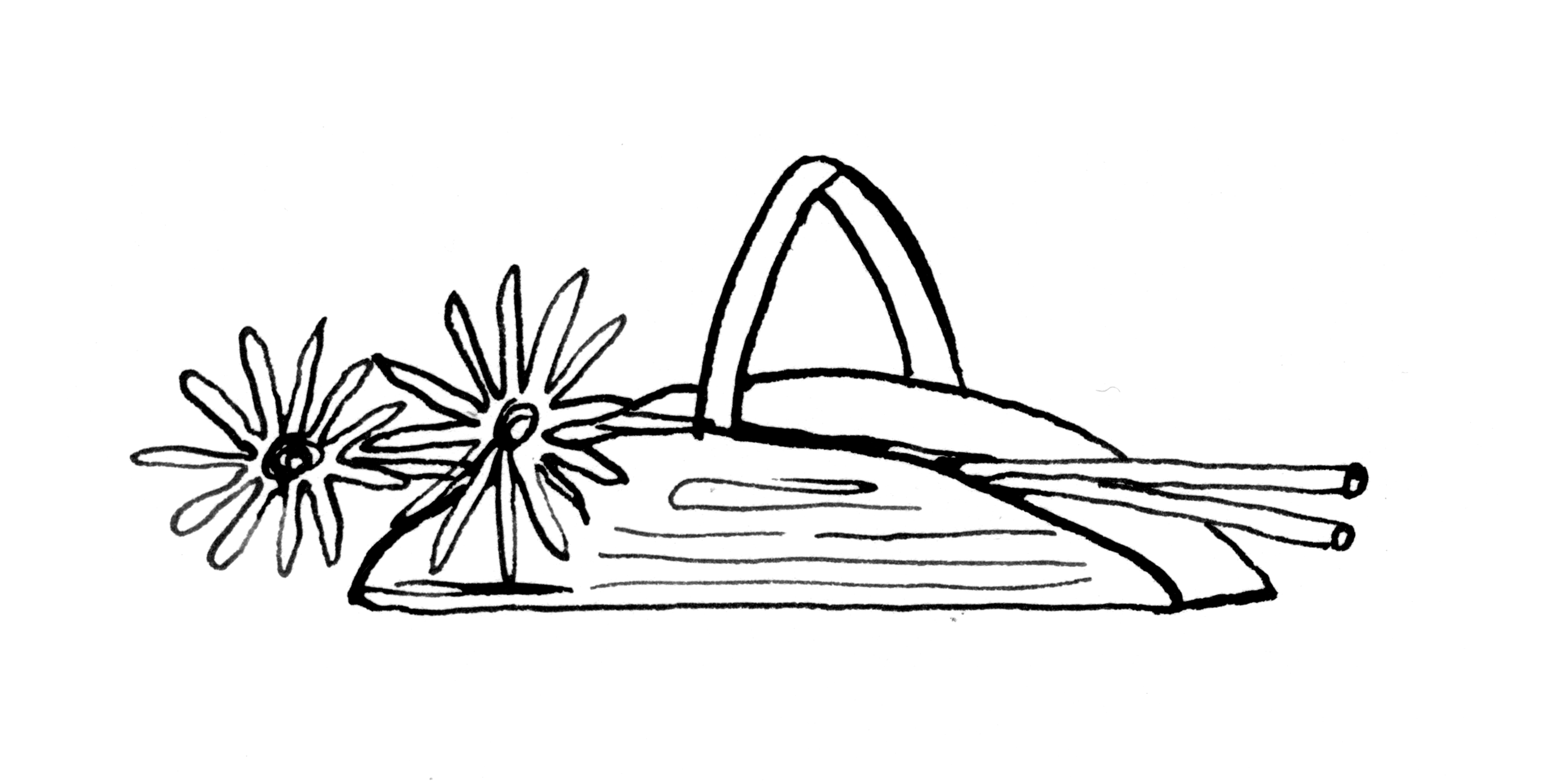 Illustration of a basket of flowers