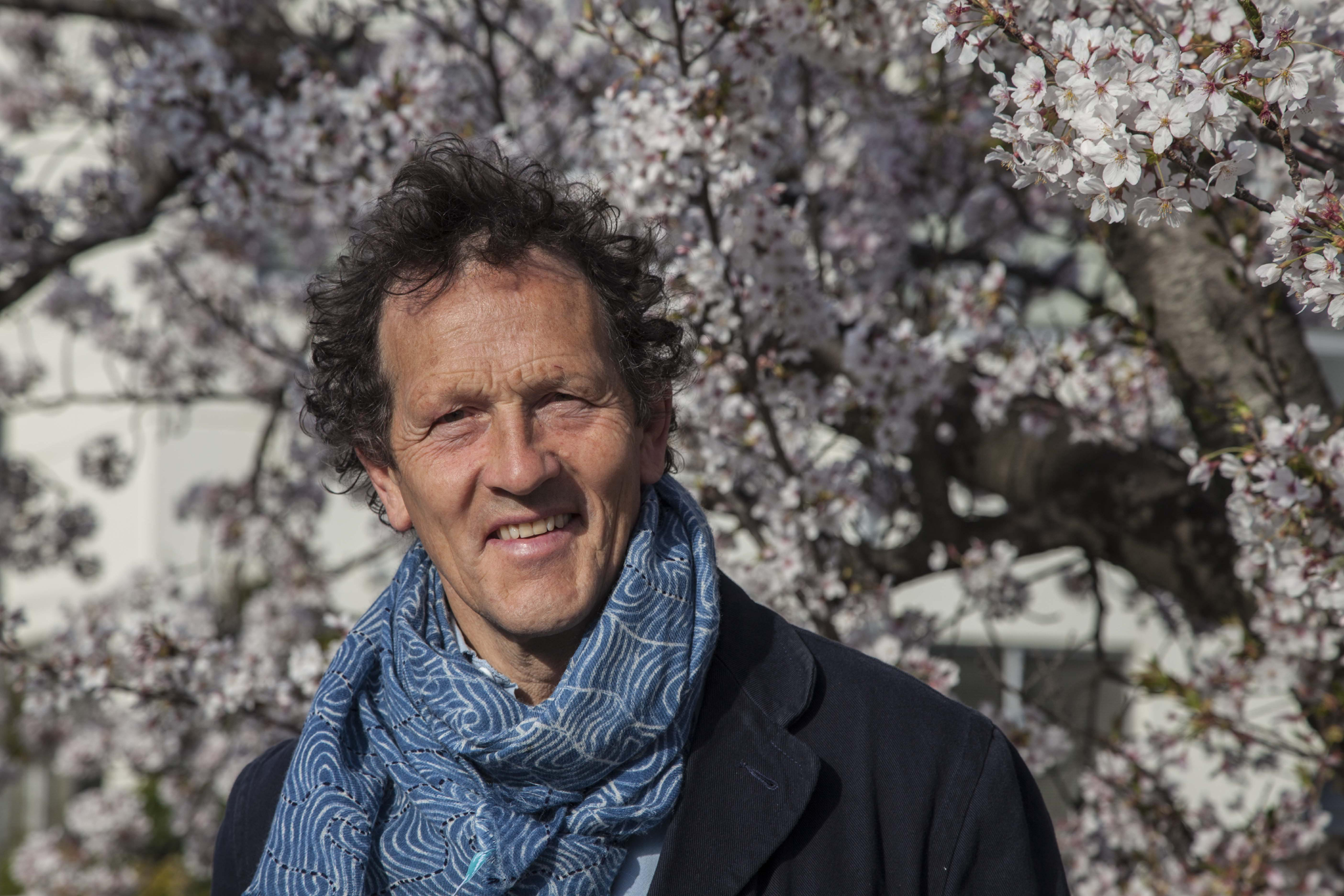 Monty Don and a Cherry Blossom tree