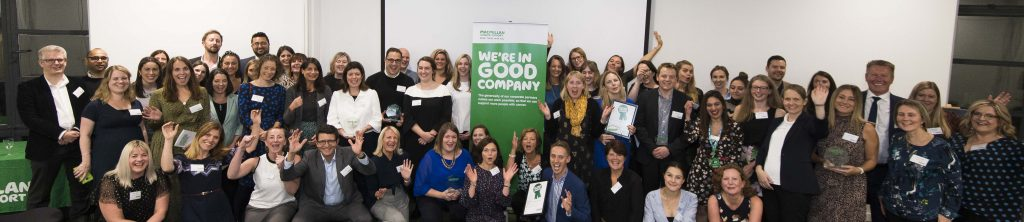 In good company, the National Garden Scheme joined Macmillan Cancer Support's corporate partners at the awards evening