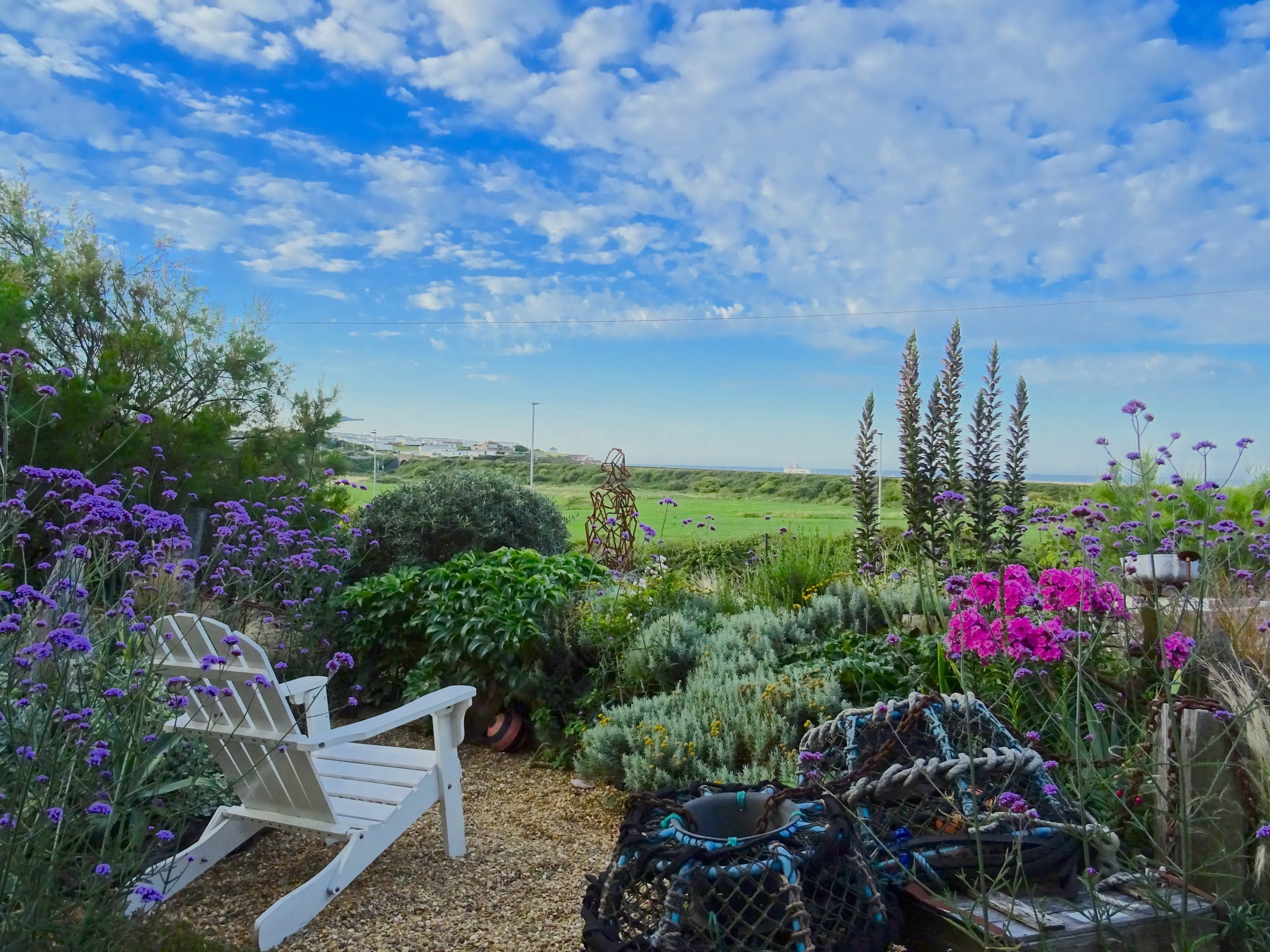 garden looking out to sea