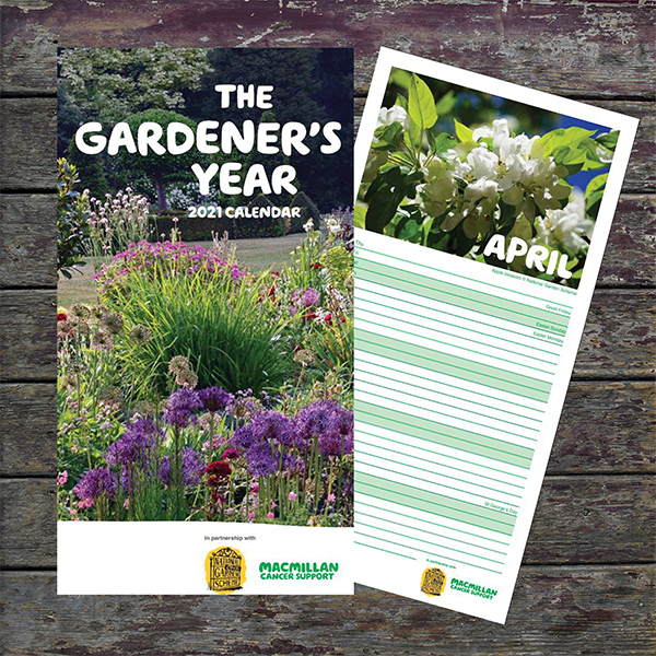 National Garden Scheme calendar in partnership with Macmillan - The Gardener's Year 2021