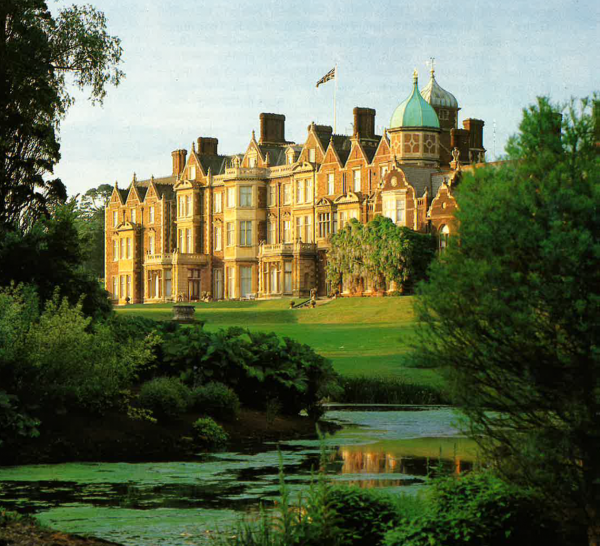 Sandringham palace in sunlight